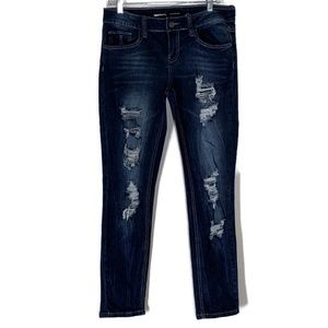 Rampage juniors jeans Sophie ripped denim size 11